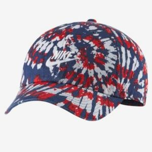 NIKE Unisex Tie Dye Blue Red And White Hat